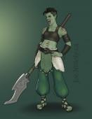 Kaida, Half-Orc Barbarian