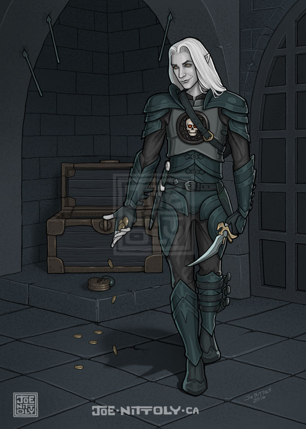 'Eladrin Rogue' by Joe Nittoly