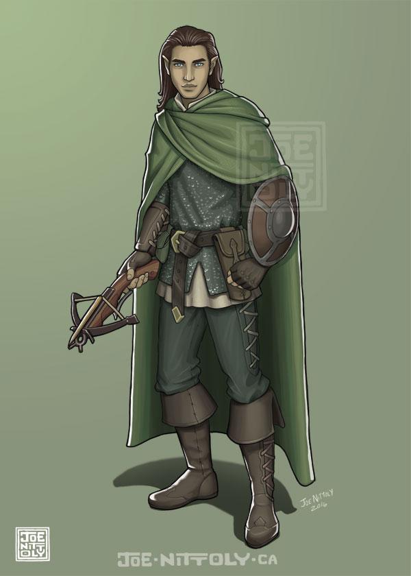'Half-Elf Ranger' by Joe Nittoly