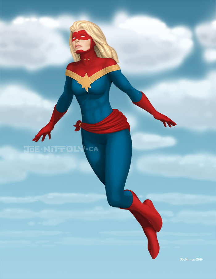 'Captain Marvel' by Joe Nittoly