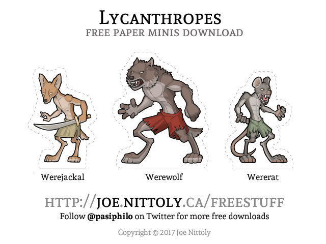 Lycanthropes - Free Paper Minis Download