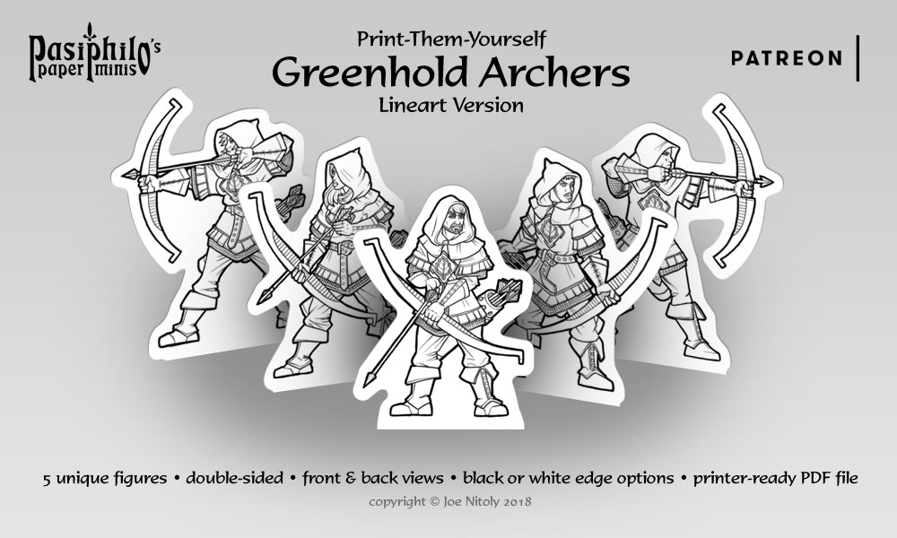 Greenhold Archers (Line art version)
