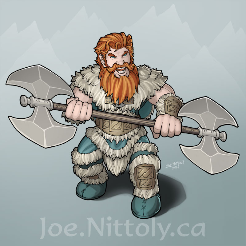'Orick, Dwarf Barbarian' by Joe Nittoly