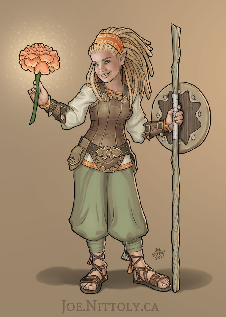 'Marigold, Halfling Druid' by Joe Nittoly