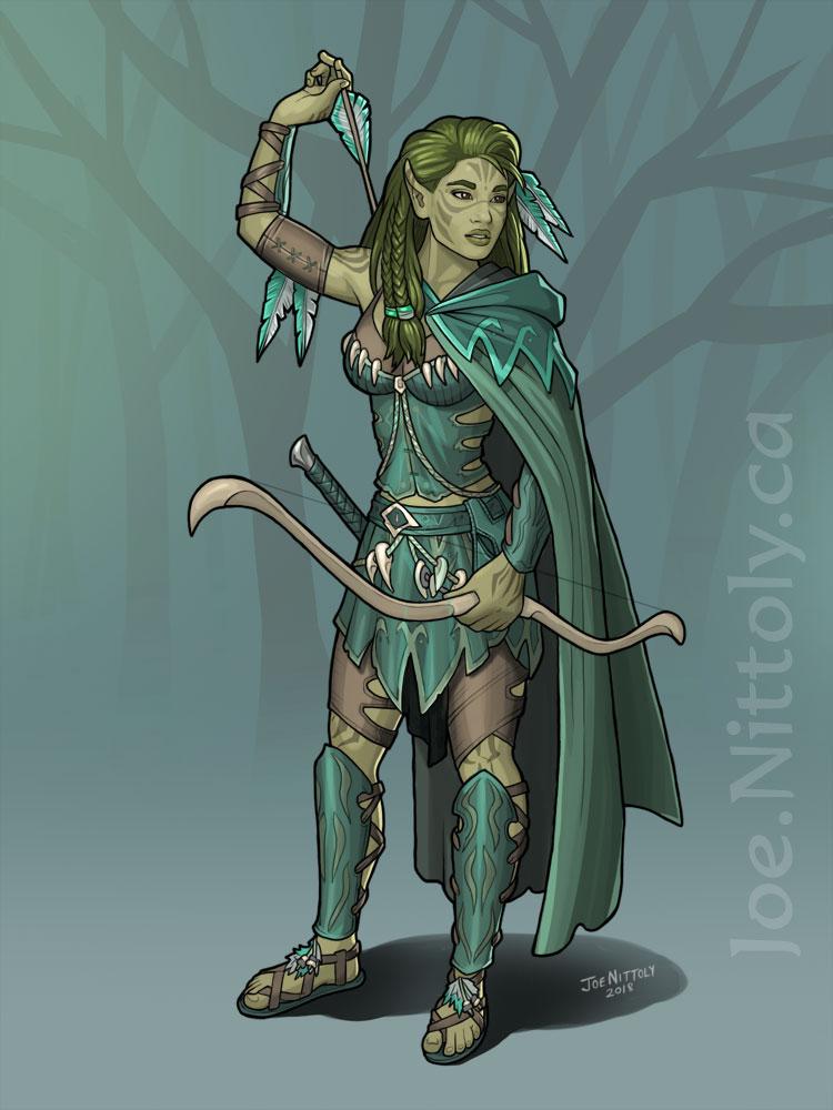 'Imri Olathana, Wild Elf Ranger' by Joe Nittoly