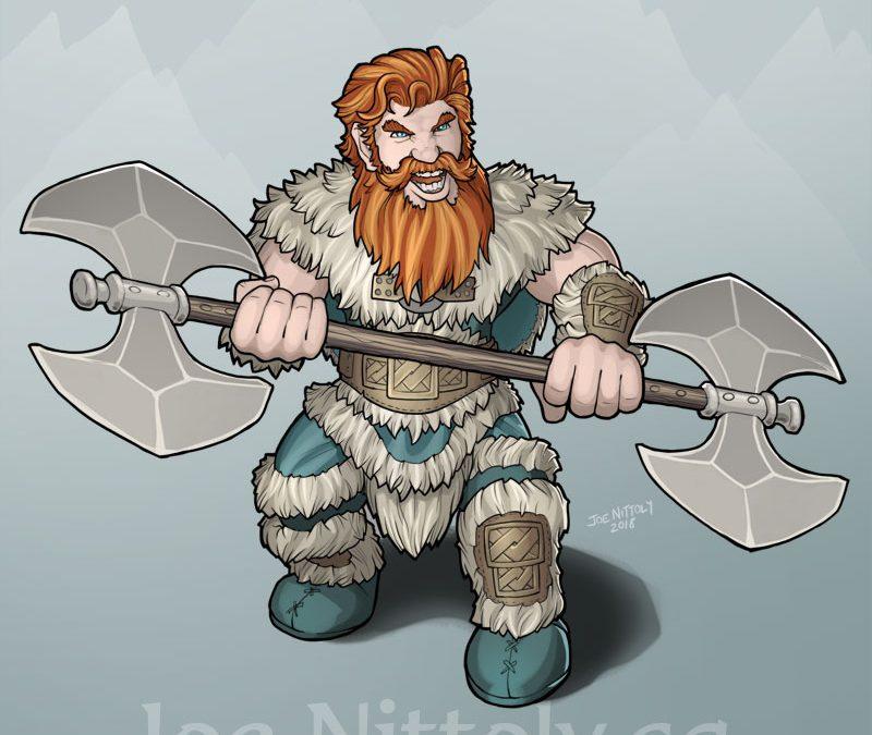 Orick, Dwarf Barbarian