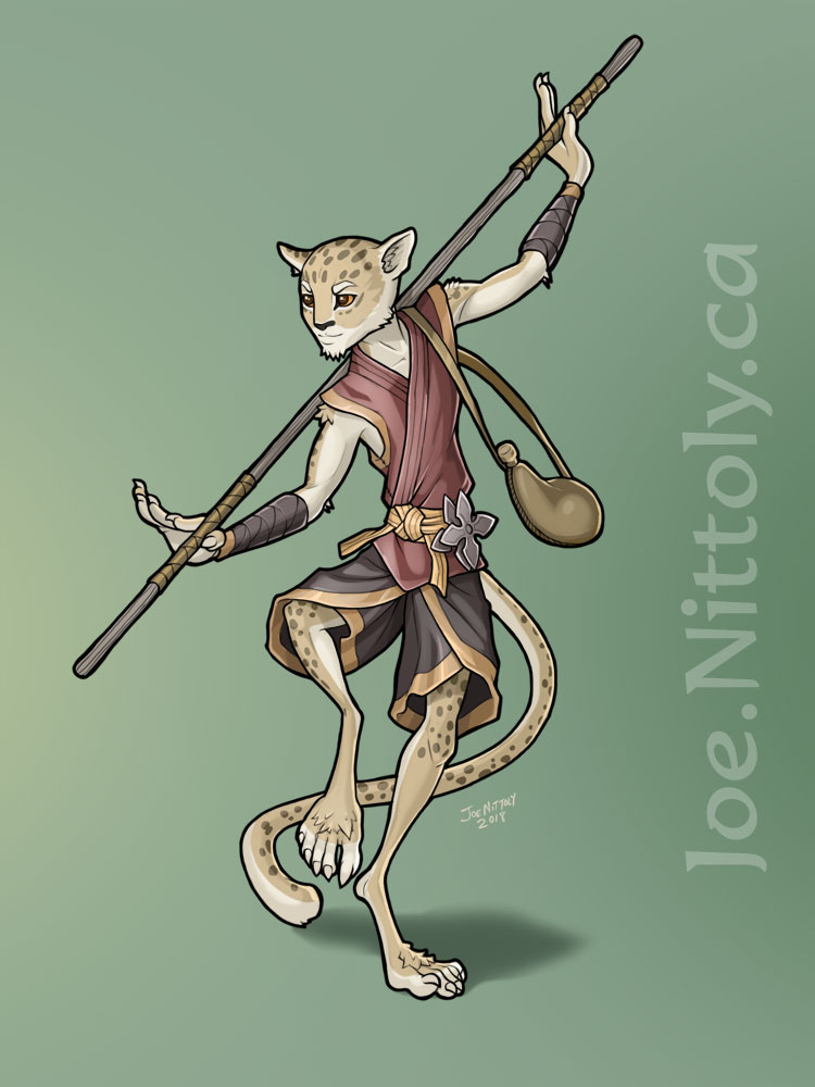 'Sway, Tabaxi Monk' by Joe Nittoly