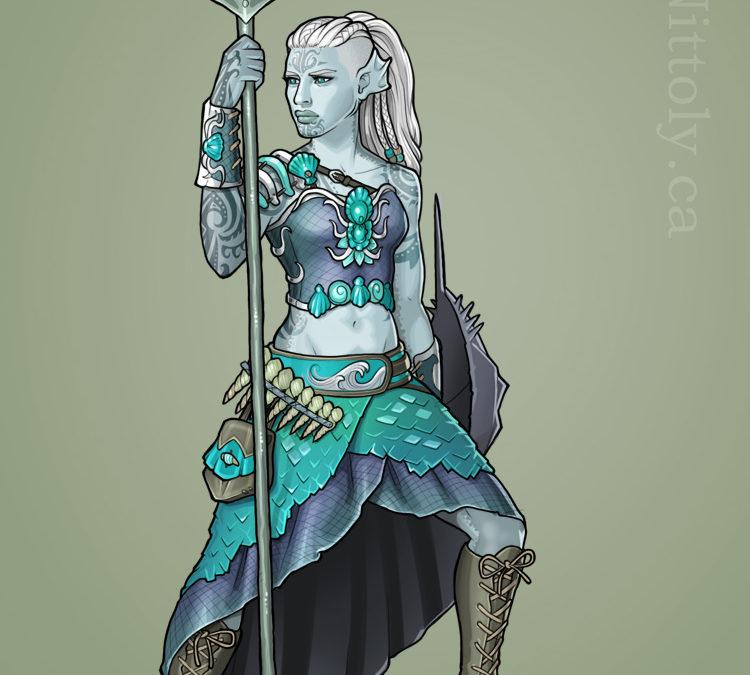 Anryn, Triton Barbarian