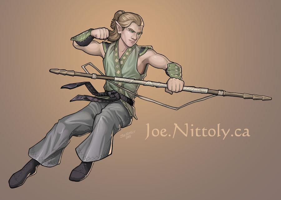 'Rayne, Elf Monk' by Joe Nittoly